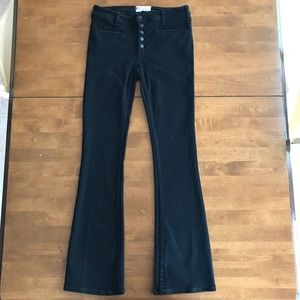 Free People Black Boot Cut Jeans. Size 27.